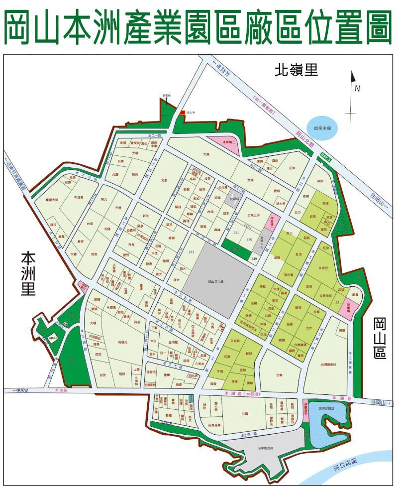本洲產業園區廠區地圖